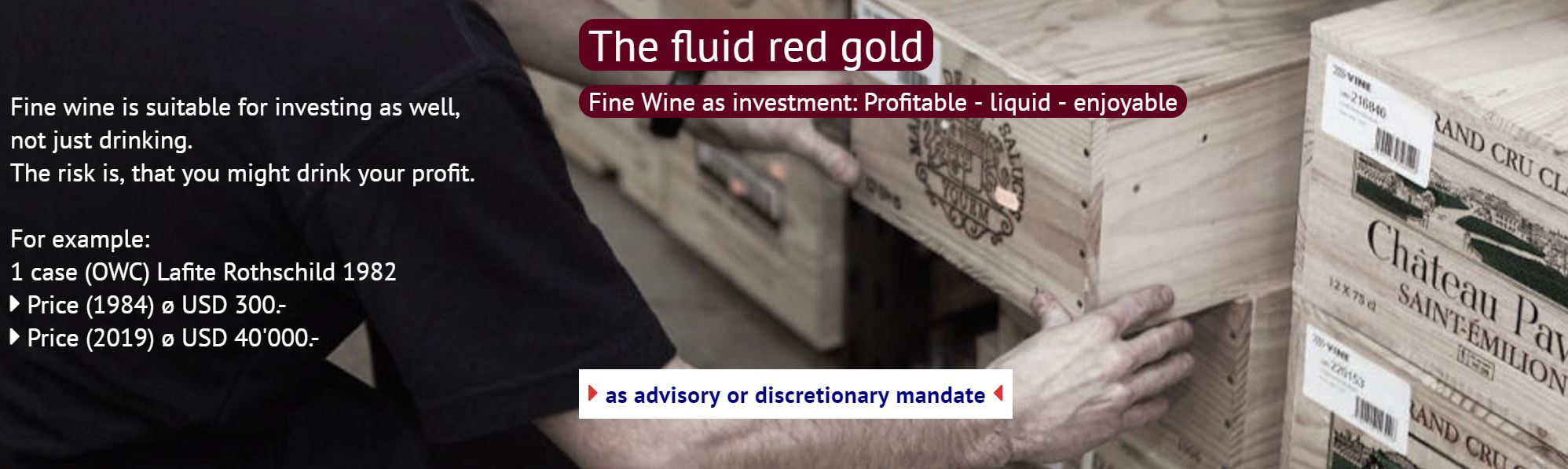 Fine Wine as investment - the red gold
