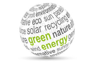Green energy - Solar park, Solar project, Solar roof. Clean energy - recycling Biofuel from waste