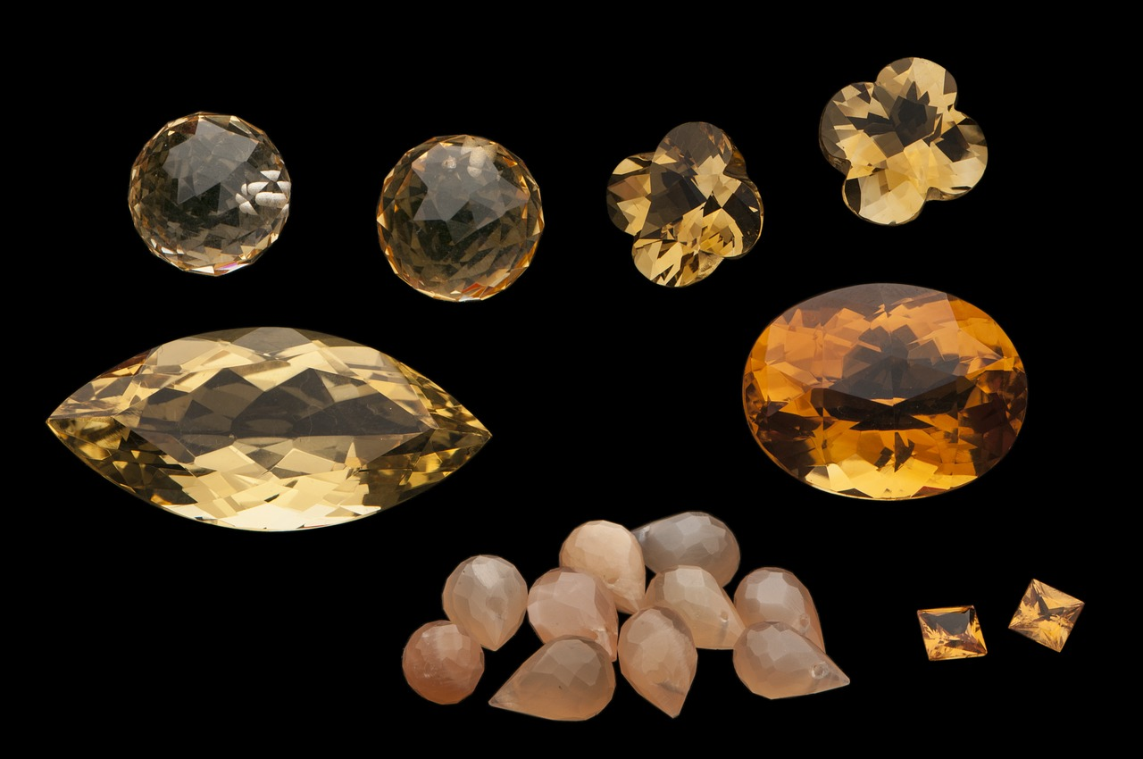 Coloured gemstones - fancy - trendy - fashionable - and very sustainable